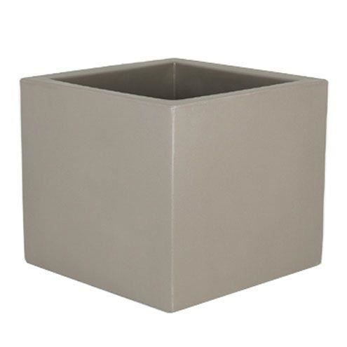 pot de fleurs carr narcisco 73 l taupe 50 x 50 cm achat vente jardini re pot fleur pot de. Black Bedroom Furniture Sets. Home Design Ideas