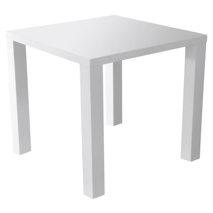 table carr e laqu e blanche achat vente table a manger seule table carr e laqu e blanche mdf. Black Bedroom Furniture Sets. Home Design Ideas