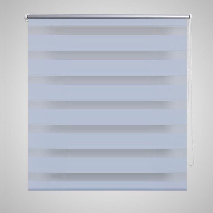 store enrouleur 60 x 120 cm en tamisant rideau de fenetre blanc pour proteger l intimite de bureau salon ou chambre a coucher