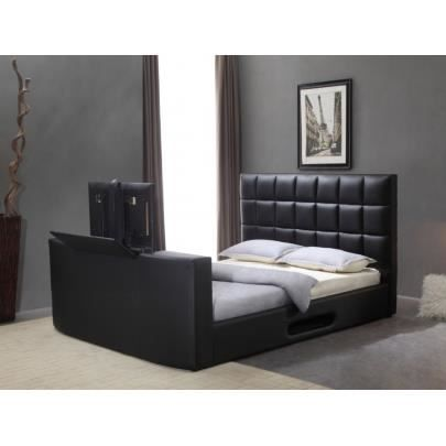 lit profusion avec syst me tv int gr 160x200cm achat vente structure de lit lit profusion. Black Bedroom Furniture Sets. Home Design Ideas