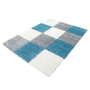 Tapis turquoise achat vente tapis turquoise pas cher cdiscount - Tapis shaggy turquoise ...