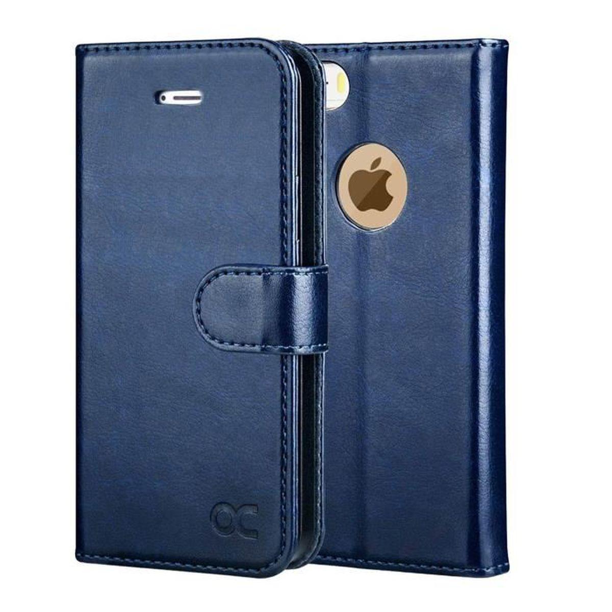 ocase coque iphone 5s porte cartes bleu fermoir ma