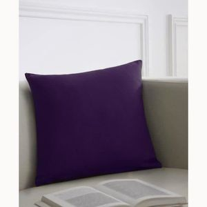 TODAY Coussin déhoussable 100% coton 40x40cm Deep Purple