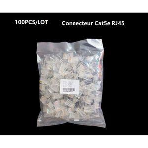 Trendi /Étendoir Artistique Moderne Brillant Tactile RJ45/Cat 5e et Cat 6/Ethernet Socket Noir Art-pcbk