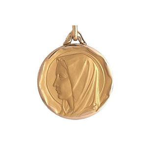 PENDENTIF VENDU SEUL Médaille Or 5 gr Vierge 18 carats