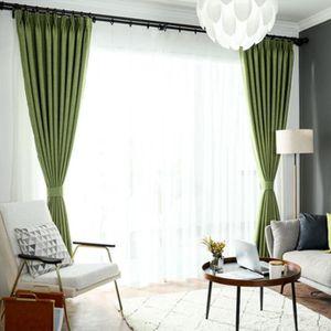 RIDEAU Rideau 135*180 cm Couleur vert Chanvre double couc