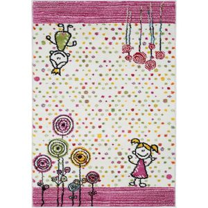 COUVERTURE - PLAID Tapis enfants Noa Princess Fuchsia 140x200 cm - Ta