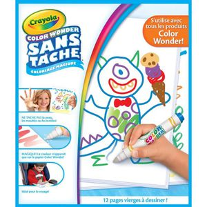 JEU DE COLORIAGE - DESSIN - POCHOIR Crayola - Recharge pages blanches Color Wonder - C