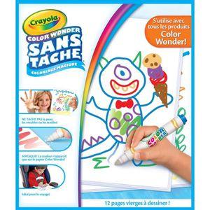 JEU DE COLORIAGE - DESSIN - POCHOIR Crayola - Recharge pages blanches Color Wonder - C