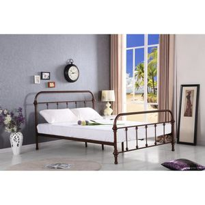 lit metal achat vente lit metal pas cher soldes cdiscount. Black Bedroom Furniture Sets. Home Design Ideas