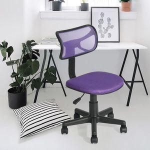 CHAISE DE BUREAU Chaise de bureau violette maille plastique
