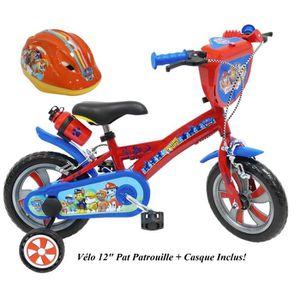 VÉLO ENFANT Vélo 12'' PAT PATROUILLE pour enfants de 2 à 4 ans