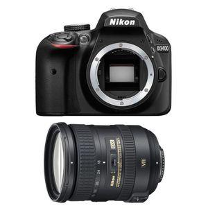 PACK APPAREIL RÉFLEX Nikon D3400 + AF-S DX 18-200 mm f/3.5-5.6G ED VR I