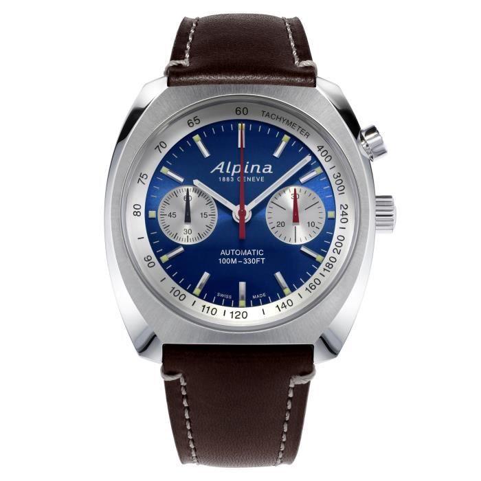 Alpina-Montre Chronographe pour Hommes à movement Automatique en Cuir - AL-727LNS4H6