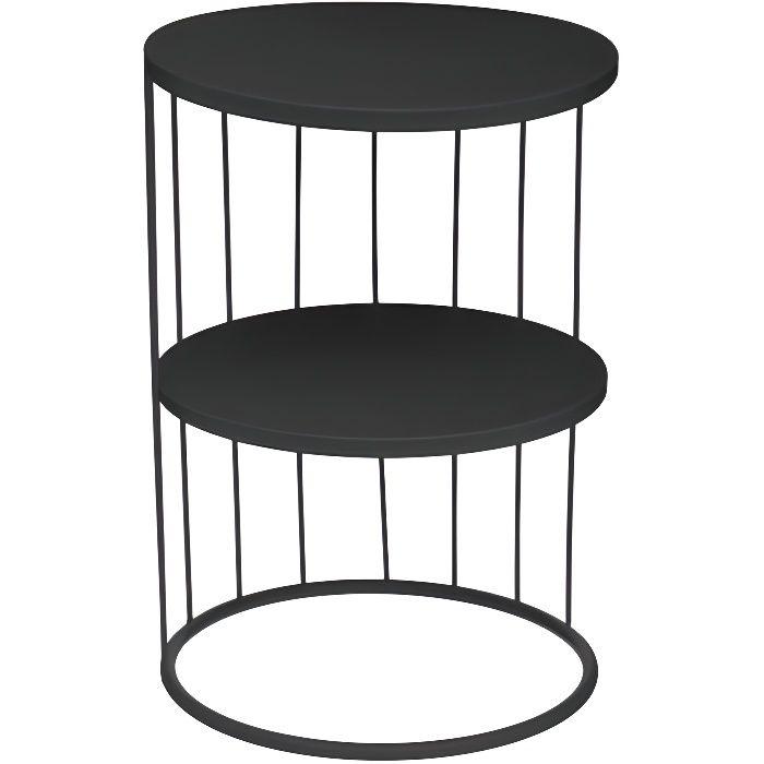 Table d'appoint déco Kobu Atmosphera - Couleur: Table d'appoint déco Kobu Noir-Noir$Noir