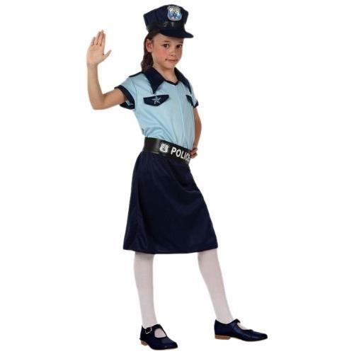 DÉGUISEMENT POLICIÈRE FILLE 3/4 ANS