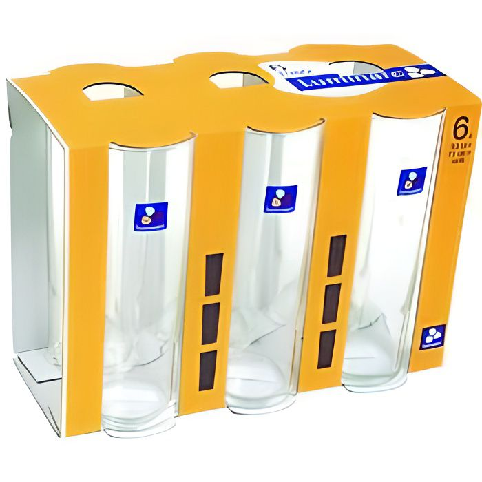 6 Verres Luminarc tube