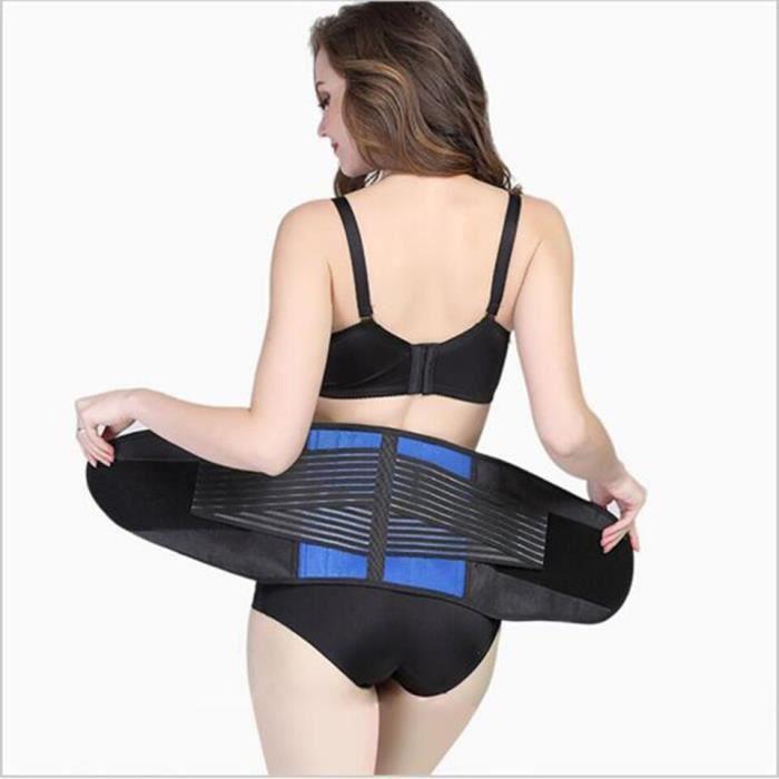 Grande taille 3XL 4XL Double traction ceinture arrière réglable pour le soulagement de la douleur [A5CADB5]