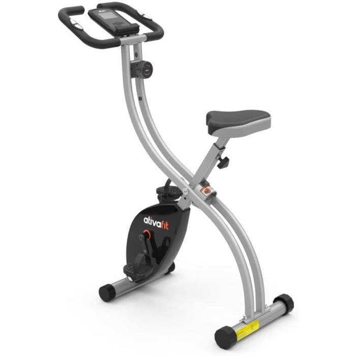 Vélo d'exercice Pliable 8 Niveaux de résistance F-Vélo avec capteur de fréquence Cardiaque + Support de téléphone
