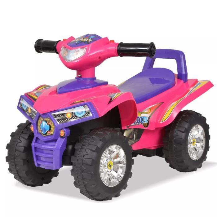 VTT pour enfants avec son et lumière Rose et violet