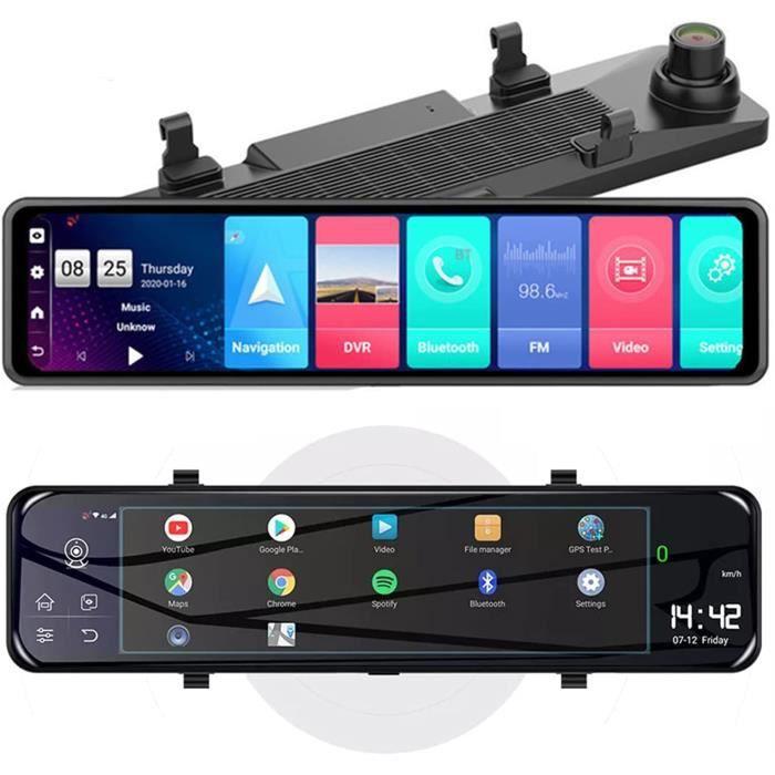 Enregistreur Automatique de rétroviseur de Voiture de 12 Pouces Android 8.1 (4 Go + 32 Go) Miroir de Vision Nocturne Dash Cam G 493