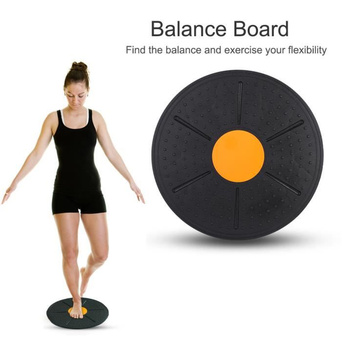 Wobble Balance Board Stabilité Disc Yoga Training Fitness Exercice (Orange)