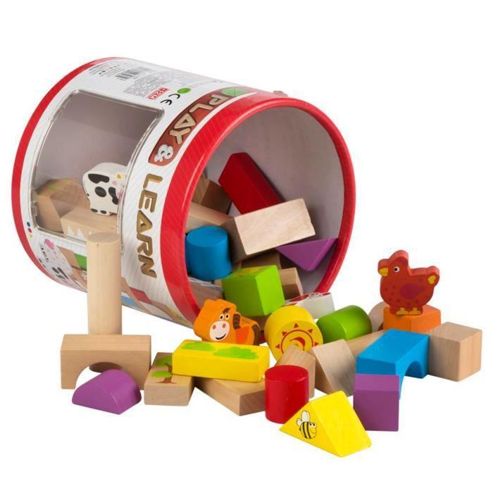 Cube Blocs jouets en bois