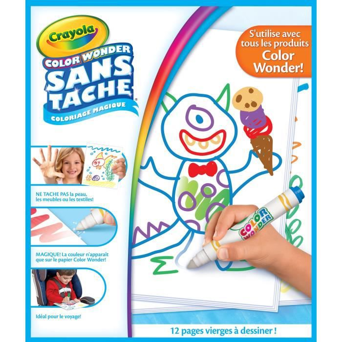 Crayola - Recharge pages blanches Color Wonder - Coloriage magique