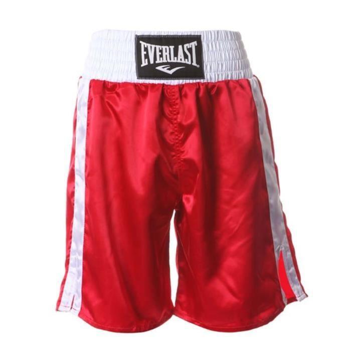 EVERLAST Short de boxe Pro Rouge S