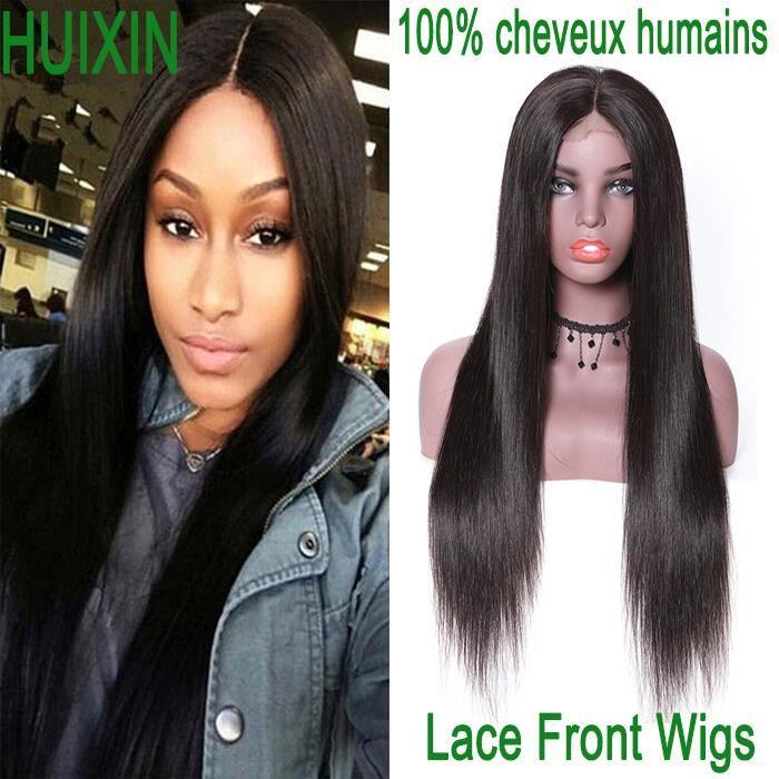 Lace Front Wigs 100% cheveux humains REMY 30 Pouces avec des cheveux LISSE de bébé perruques brésiliennes