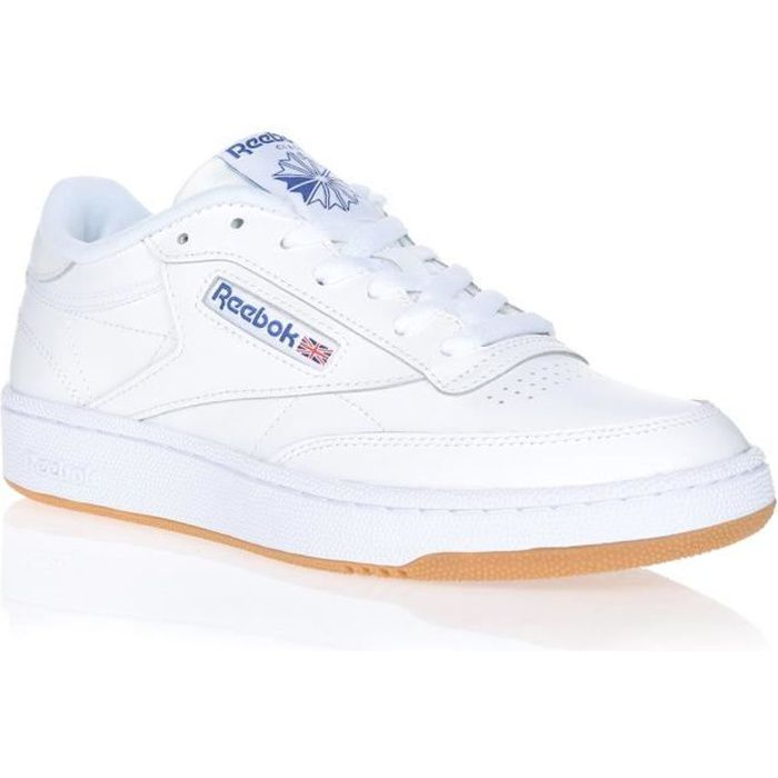 REEBOK Baskets Club C 85 Blanc/Bleu Mixte