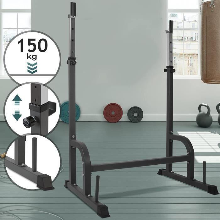Support d'haltère stable, capacité de charge env. 150 kg
