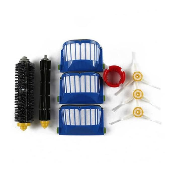 STOEX® Kit Extracteur Brosse + 3 Filtres HEPA + 3 Brosse Latérale Pour iRobot Roomba Série 600-700