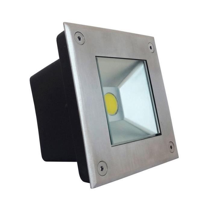 Spot led encastrable carré sol 3 watt (eq. 30 w...