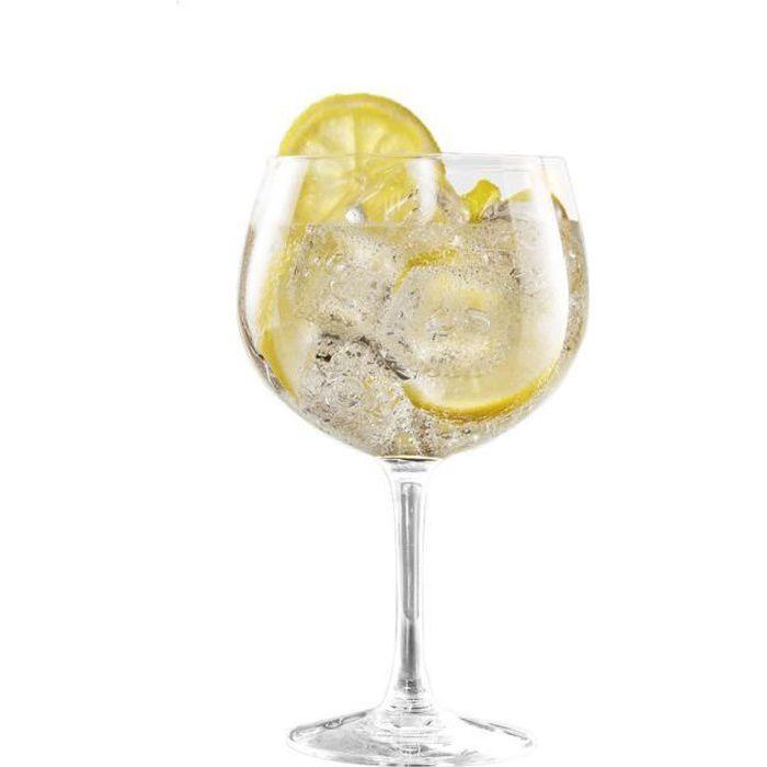Lot de 6 verres à cocktail gin tonic - 70 cl