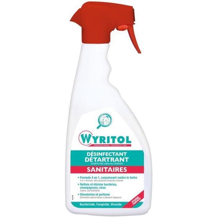 Wyritol désinfectant détartrant sanitaires 750ml