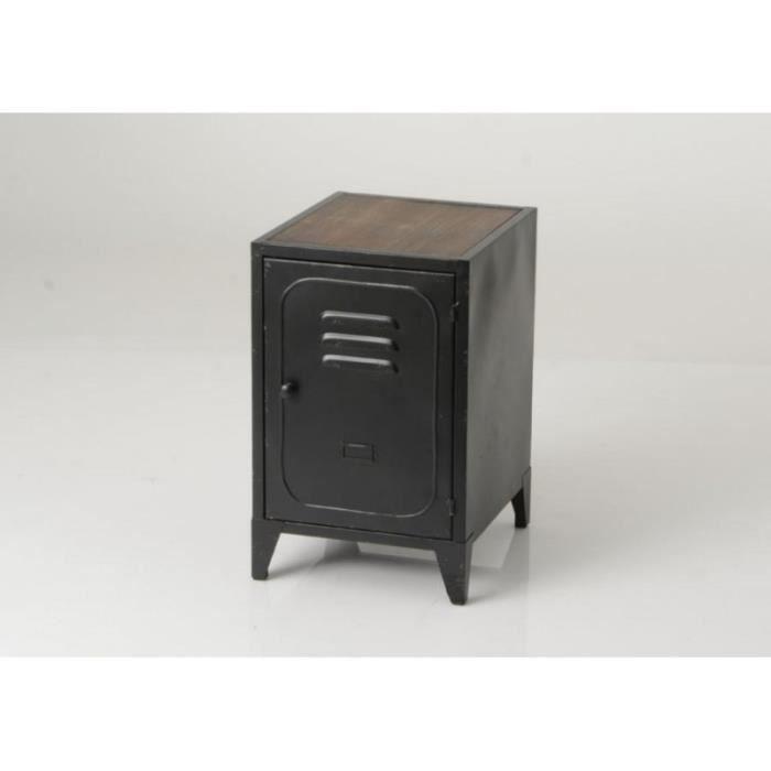 métal Vestiaire Chevet Achat industriel noir Noir 1 porte N80nwvmO