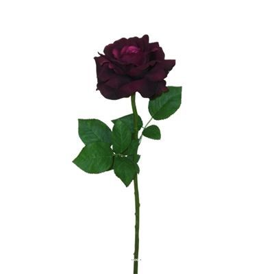 Rose artificielle carat violette h 67 cm grande achat for Rose artificielle