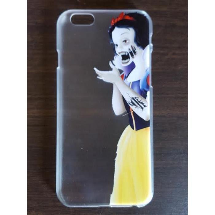 Coque iPhone 6 6s Transparente Blanche-Neige Vampi