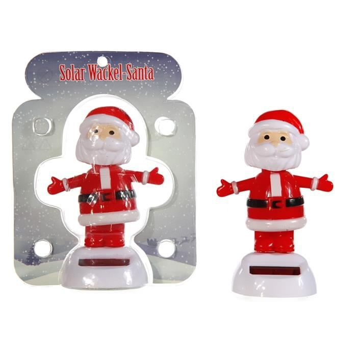 danseur pere noel papa solaire gadget voiture figurine. Black Bedroom Furniture Sets. Home Design Ideas