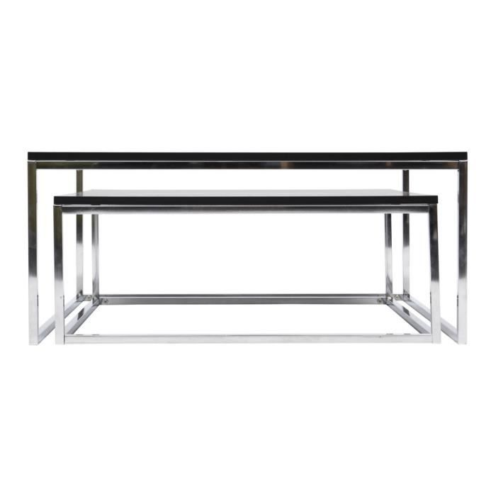 table basse gigogne metal achat vente table basse. Black Bedroom Furniture Sets. Home Design Ideas