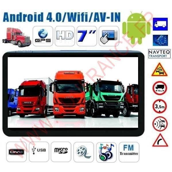 gps poids lourd android internet hd 2015 achat vente gps auto gps poids lourd android int. Black Bedroom Furniture Sets. Home Design Ideas