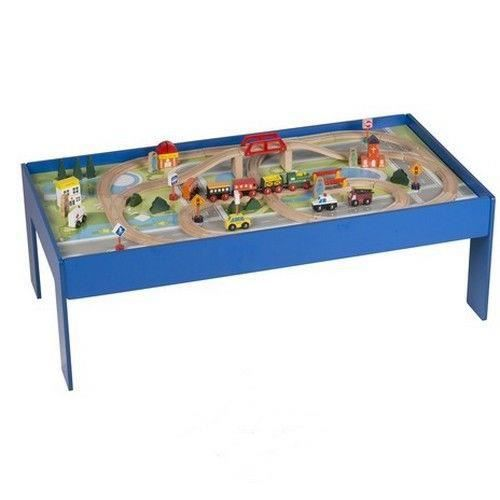 table circuit train en bois achat vente jeux et jouets pas chers. Black Bedroom Furniture Sets. Home Design Ideas