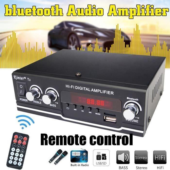 AMPLIFICATEUR HIFI Amplificateur Audio Stéréo Karaoké HiFi Bluetooth