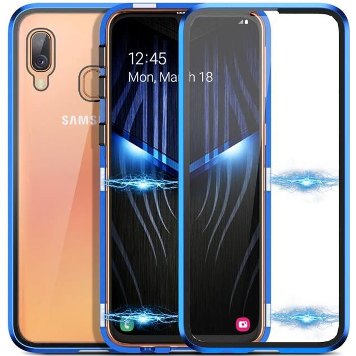 Coque Samsung A40 Adsorption Magnétique Verre Trem