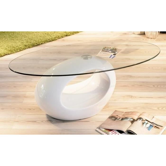table basse verre ovale pucci achat vente table basse. Black Bedroom Furniture Sets. Home Design Ideas