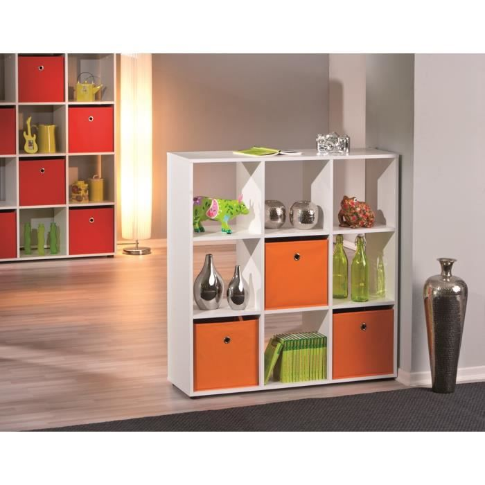 Etag re de s paration contemporaine blanche 9 casiers ullo ii achat vente - Etagere de separation ...