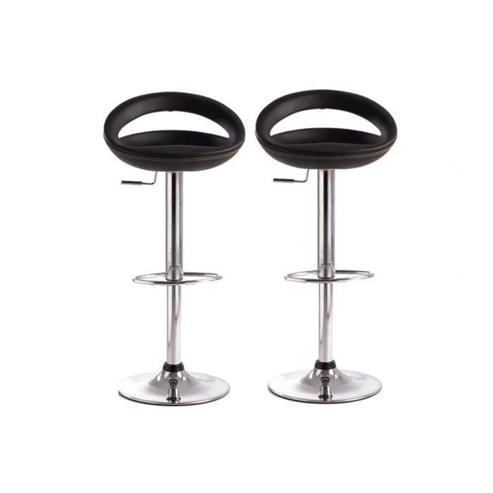 tabourets de bar noir moderne pvc comet lot de 2 achat vente tabouret de bar cdiscount. Black Bedroom Furniture Sets. Home Design Ideas