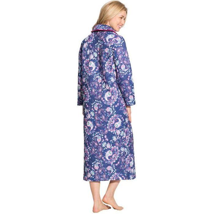 Robe De Chambre Matelassee Imprime Marine Achat Vente Pyjama Cdiscount