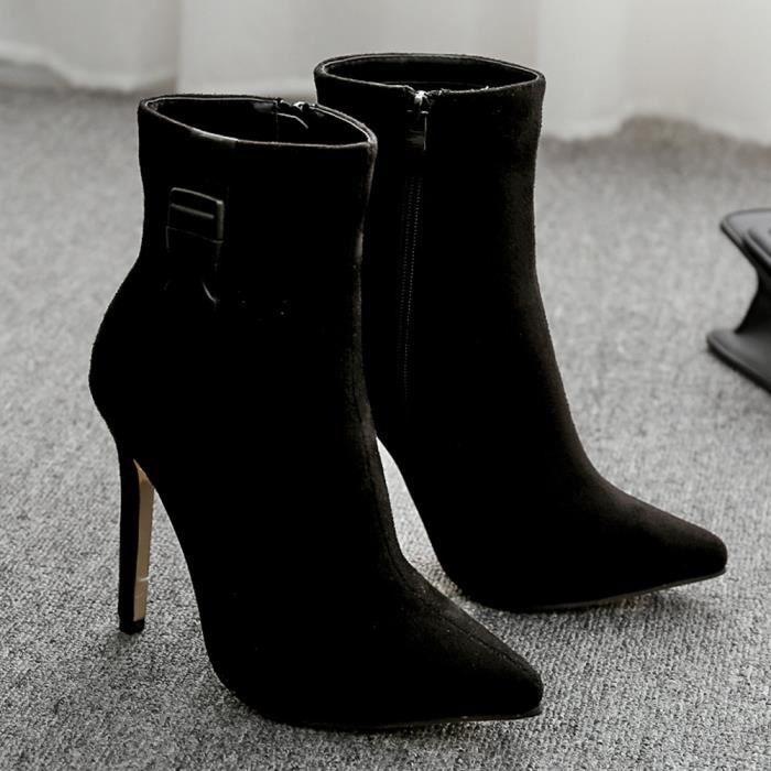 Talon Escarpin Escarpins Femmes Pointu Bout Xym80708901bk41 Bottes Sandales Haut Lacets Printemps Chaussures Noir Pilerty®les À SzMpUVq